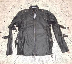 "LIP SERVICE Patent Vinyl And Vegi Leather Classics ""Transformer"" jacket #M38-143"
