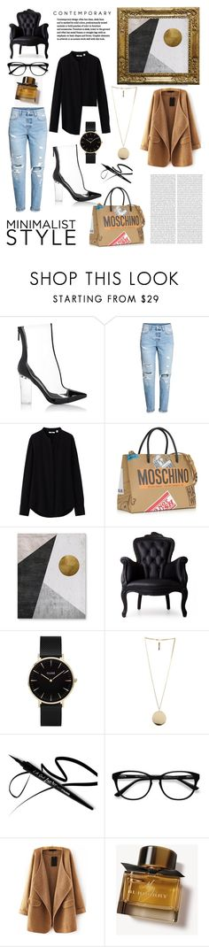 """""""minimalist STYLE"""" by mariana-menezes-1 ❤ liked on Polyvore featuring Kendall + Kylie, Uniqlo, Moschino, Moooi, CLUSE, Givenchy, EyeBuyDirect.com, WithChic and Burberry"""