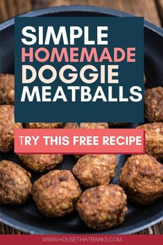 Dogs will love these easy to make homemade dog meatballs. #homemade dog food