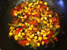 Il Blog di Picetto: Pollo con peperoni in agrodolce