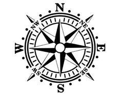 Compass Rose Vinyl Wall Decal for interior decor available in Cricut Tutorials, Cricut Ideas, Compass Rose Tattoo, Compass Wall Decor, Cricut Stencils, Nautical Star, Desk Areas, Geocaching