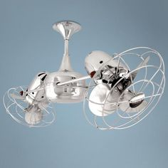 """36"""" Duplo Dinamico Chrome and Metal Blades Ceiling Fan. $1789"""