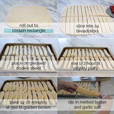 better than Olive Garden garlic breadsticks recipe - It's Always Autumn Olive Garden Breadsticks, Garlic Breadsticks, Breadsticks Recipe, Copycat Recipes, Bread Recipes, Cooking Recipes, Chicken Recipes, Yummy Recipes, Olive Garden Recipes