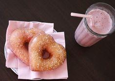 Heart shaped doughnuts