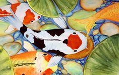 Yaritza Jaimes, a 5th grader at R.R. Moton Elementary, created this painting of Koi fish.