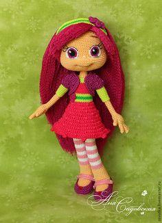 Купить Ягодный город - ягодный город, шарлотта земляничка, крючок, куколки, куклы, мультяшки, сливка