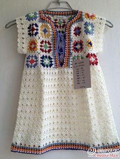 crochet dress is sweet!