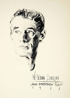 Norman Lindsay by James Montgomery Flagg (1931)