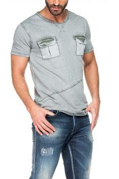 Salsa Store - T-shirt 1st Level com bolsos e ligeiro tingimento