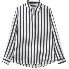 Black Pretty Womens Cotton Stripe Long Sleeve Blouse (305 ZAR) ❤ liked on Polyvore featuring tops, blouses, shirts, black, striped blouse, striped cotton shirt, long sleeve cotton shirt, long sleeve cotton tops and cotton blouses