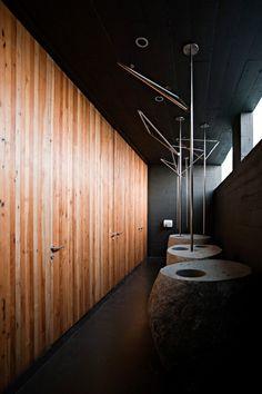 Mestizo Restaurant in Santiago Chile by Smiljan Radic Restroom Design, Bathroom Interior Design, Interior Decorating, Toilet Design, Bath Design, Wc Public, Public Restaurant, Lavatory Design, New Toilet