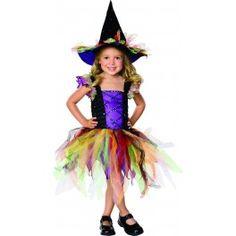 Costume Sorcière Multicolore