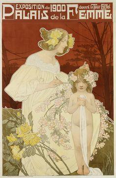 Henri Privat-Livemont, Palais de la femme, 1900.