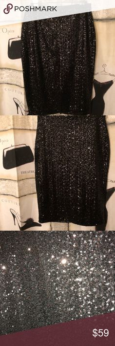 Express black sequence pencil skirt Express black sequence pencil skirt size 10. NWT no rips or stains. Wednesday are my mailing day unless discussed otherwise. Express Skirts Pencil