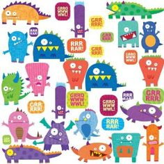Monster Peel & Stick Wall Decals
