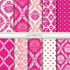 Damask in pinks.