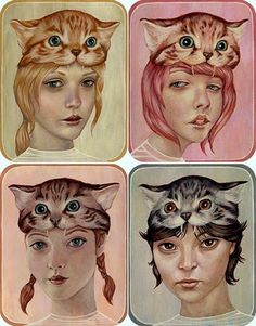 casey weldon, ilustra, cool, cats
