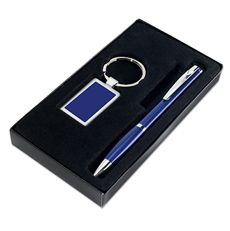 Luxe sleutelhanger en pen - te bedrukken met je eigen tekst of logo.