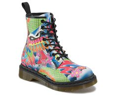 Never get lost in a crowd - the Dr. Martens 1460 Boot, reworked in a psyche tattoo print.