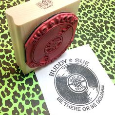 Retro Record Save The Date Custom Rubber Stamp, Personalized Wedding Date stamp, 50s, 60s, Theme Party, Rockabilly, Sock Hop on Etsy