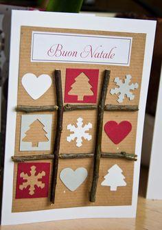 Christmas Card.. easy xmas Christmas Cards 2017, Xmas Cards, All Things Christmas, Winter Christmas, Diy Cards, Christmas Time, Christmas Crafts, Gift Wraping, Homemade Christmas