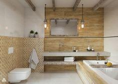 łazienka w stylu eco w odcieniach beżu i drewna