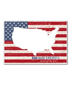 Look at this 'God Bless America' Wall Art on #zulily today!