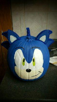 Sonic the Hedgehog Pumpkin Halloween Pumpkin Designs, Halloween Projects, Halloween Pumpkins, Fall Halloween, Decorating Pumpkins, Pumpkin Decorating Contest, Pumpkin Contest, Pumpkin Books, Pumpkin Crafts
