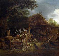 Isaac van Ostade -  yard in village