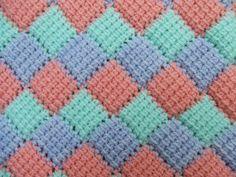 My world of crochet, entrelac, häkeln, crochet babyblanket, Babydecke, Diamant, diamond