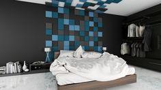 Miękkie panele ścienne 3D Fluffo, Fabryka Miękkich Ścian. Kolekcja Fluffo PIXEL. www.fluffo.pl