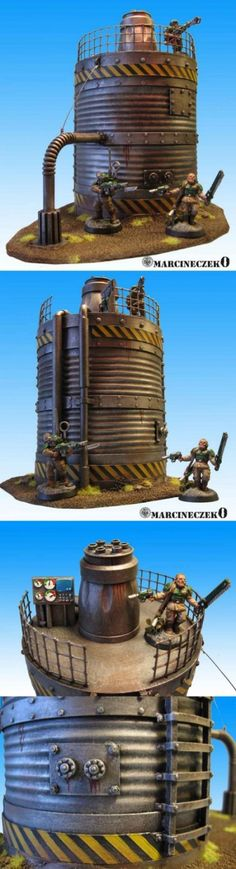 Silo made from a can | Terrain Models.