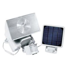 Motion-Activated Solar Halogen Security Floodlight - 40110