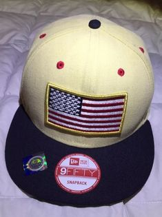 2c2a11f711a New Era US Flag 9fifty Gold Snapback Hat  fashion  clothing  shoes   accessories
