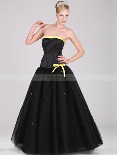 Tulle and Satin Ball Gown with Fitted Strapless Bodice