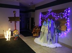 Island of Misfit Toys Castle - Work Holiday Decorating Christmas Hallway, Its Christmas Eve, Best Christmas Toys, Christmas Window Display, Christmas Displays, Christmas Program, Christmas Holidays, Christmas Ideas, Christmas Cubicle Decorations