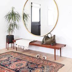 this round mirror!!