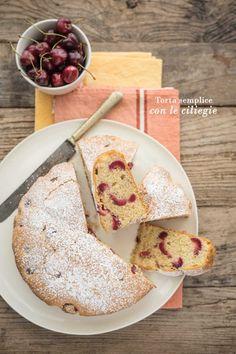 Torta semplice con le ciliegie | La tarte maison