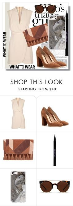 """Casetify !"" by dianagrigoryan ❤ liked on Polyvore featuring Finders Keepers, Gianvito Rossi, Rebecca Minkoff, Urban Decay, Casetify and Quay"