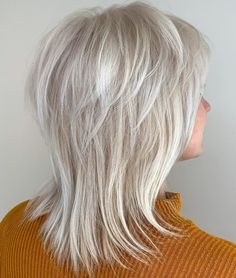 60 Best Variations of a Medium Shag Haircut for Your Distinctive Style Silver white Wispy hairstyle Medium Shag Haircuts, Short Shag Hairstyles, Messy Hairstyles, Haircut Medium, Popular Hairstyles, Scene Hairstyles, Older Women Hairstyles, Party Hairstyles, Latest Hairstyles