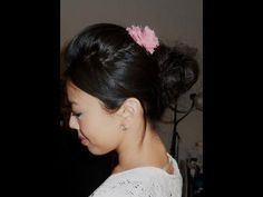 Messy bun for short hair....I think mine might still be a little too short to do this, but I'm gonna try!