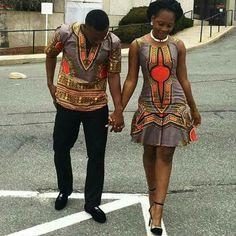 Want to slay together as an African couple? Check out these super gorgeous husband and wife matching ankara styles for inspirations. African Print Dresses, African Fashion Dresses, African Attire, African Wear, African Women, African Dress, African Prints, African Inspired Fashion, African Print Fashion