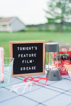 Backyard Movie Party, Outdoor Movie Party, Backyard Movie Nights, Outdoor Movie Nights, Grease Themed Parties, Grease Party, Grease Movie, Movie Theme Parties, Movie Themes