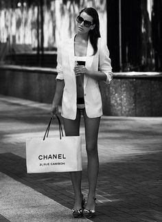 Just a quick trip to Chanel. Heels. No Pants. Where did I park my yacht?