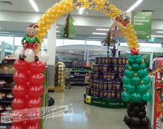 Christmas themed arch installed in a local supermarket