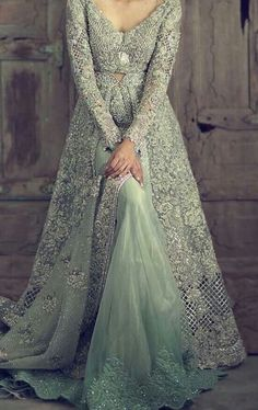 Jaw-dropping bridal gown by Pakistani Wedding Outfits, Pakistani Wedding Dresses, Bridal Outfits, Indian Dresses, Indian Outfits, Bridal Gowns, Elan Bridal, Pakistani Bridal Lehenga, Walima