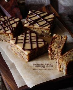 Peanut Butter Banana Bread Pudding Cake from BakersRoyale