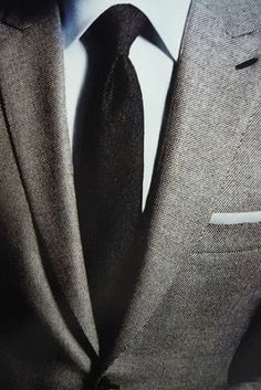 grey suit white shirt black tie wedding -
