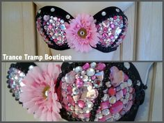 Pink Bling Rave Bra by TranceTrampBoutique on Etsy