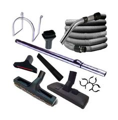 Trousse 8 accessoires + 1 flexible standard 13 m - ATEPAC Aspiration Centralisée, Support Mural, Kit, Shoe Rack, Flexibility, Husky, Products, Central Vacuum Cleaner, Be Soft